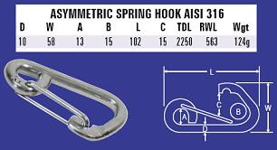 10mm Asymmetric Spring Hook
